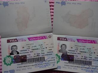 Ca y est, nous avons nos visas pour l'Iran !