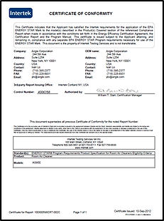 US energy star certification