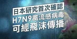 【禽流感變種】日研究首確認H7N9可經飛沫傳播