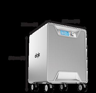 Airgle air purifier dimensions-black-ag5