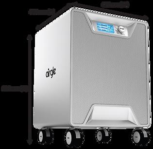 Airgle air purifier dimensions-black-ag8