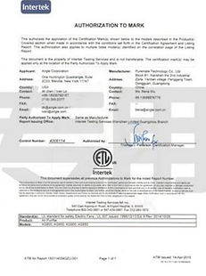 ETL electroic safety certification
