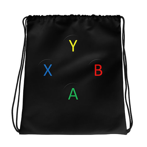 Controller Buttons Drawstring Bag-Black