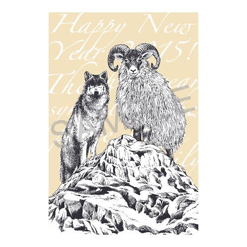 ポストカード03_sheep & wolf