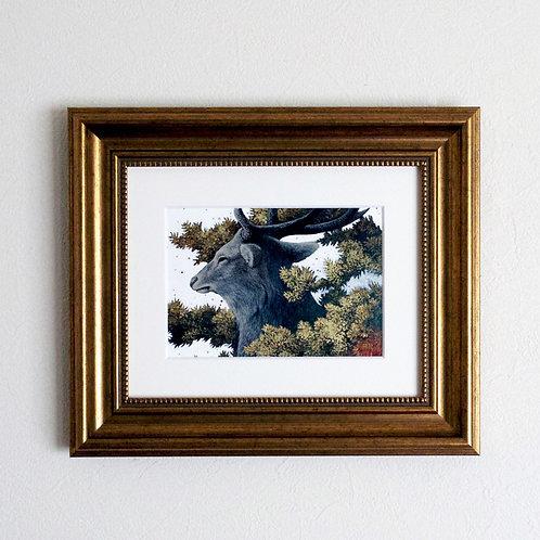 アクリル画「ふたつの雨」