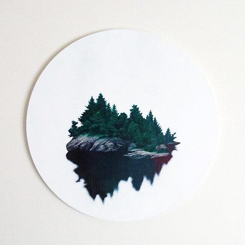 アクリル画「テリトリー2_林の島」