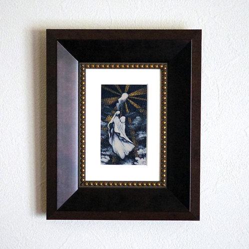 アクリル画「つぎの高いところ」