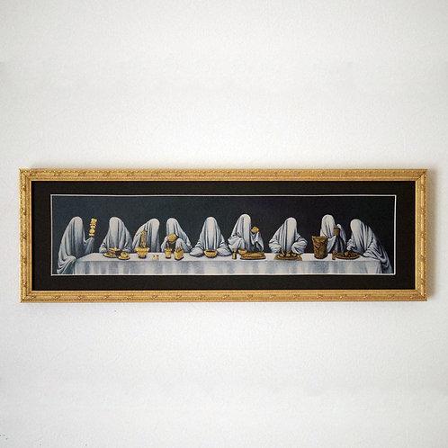 アクリル画「みんなちがうごはん」