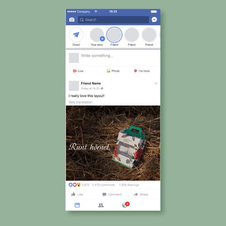 Exempel på annons i sociala medier
