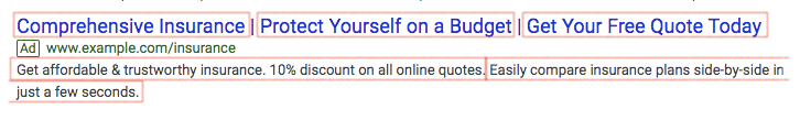 Expanded Google Ads search ad.