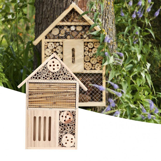 Wooden Insect Bee Breeding Shelter Nest Box Bee Hotel Bee House