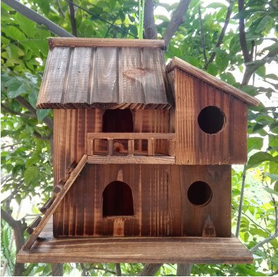 Bird Nest Outdoor Waterproof Warm Bird House Peony Parrot Breeding Box Bird Cage