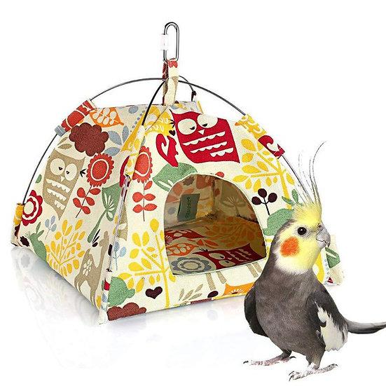Bird Nest House Bed Parrot Habitat Cave Hanging Tent Parakeet Sleep Hut