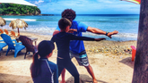 Surf lessonsfor kids in Playa Remanso