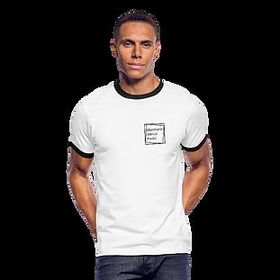Kontrast-T-Shirt weiß mit Logo aus 100% Baumwolle