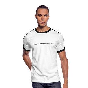 Retro-T-Shirt weiß mit Schriftzug aus 100% Baumwolle