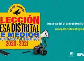 ELECCIÓN MESA DISTRITAL DE MEDIOS COMUNITARIOS Y ALTERNATIVOS 2020 – 2021