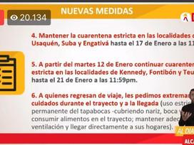 Las localidades de Kennedy, Fontibón y Teusaquillo entrarán en cuarentena estricta.