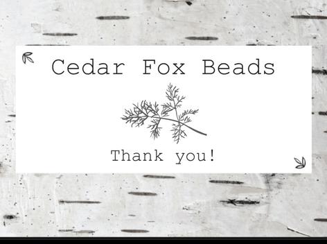 Cedar Fox Beads