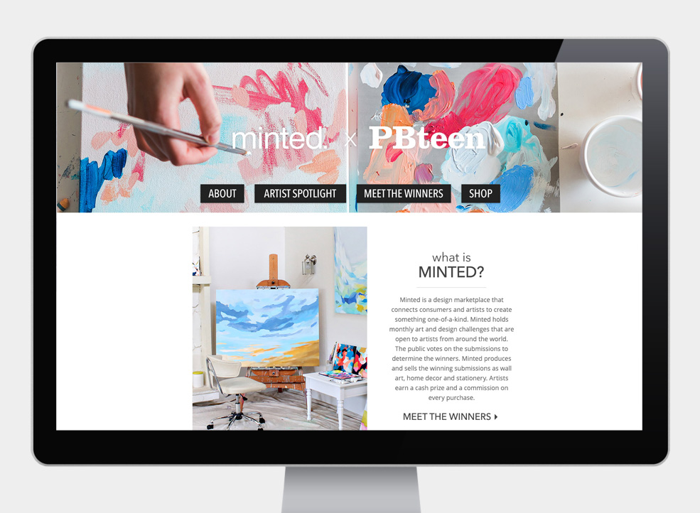Minted Microsite