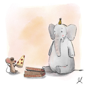 Elephant Pizza Party