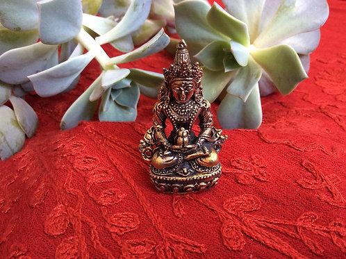 Mini statuette du Bouddha Amitayus de longue vie
