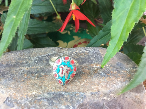 Turquoise inlaid ring