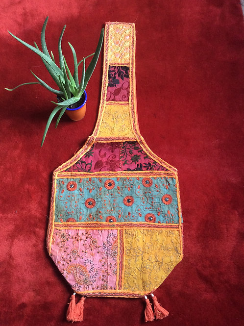Bag from India #3 multicolored with shoulder strap
