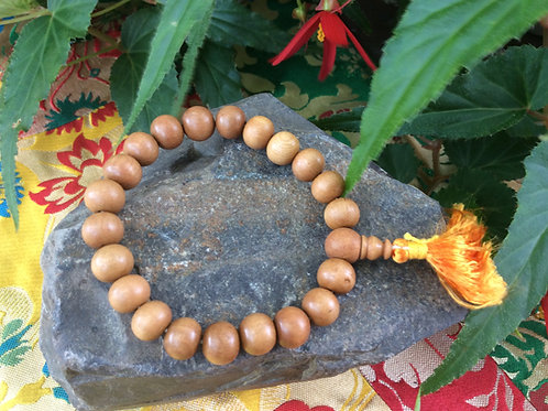 Buddhist whrist mala with 9 mm sandalwood beads