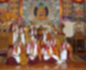Cérémonie d'ordination avec Sa Sainteté le Dalaï-Lama