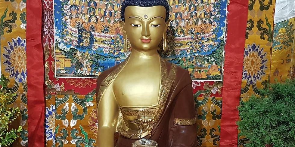 Transmission de pouvoir du Bouddha (Shakyamouni)