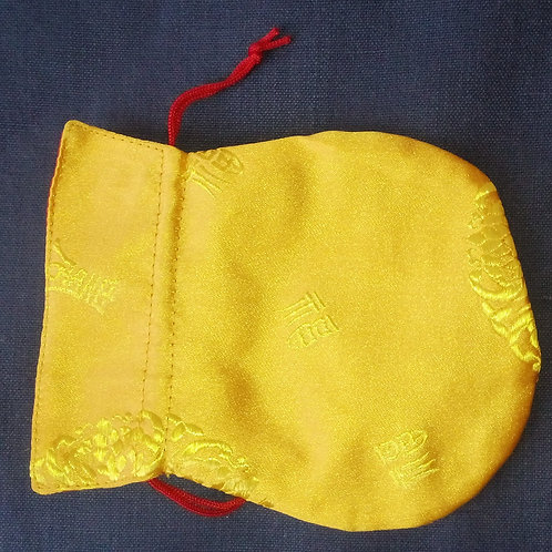 Pochette à mala jaune petite