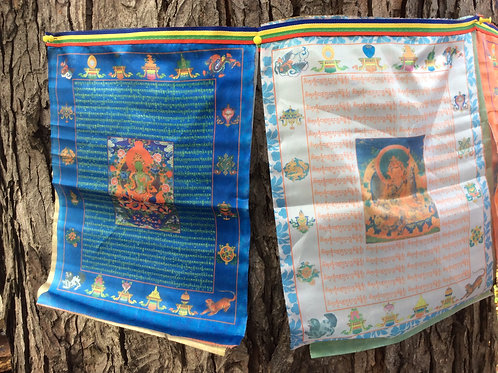 Prayer flags in silk