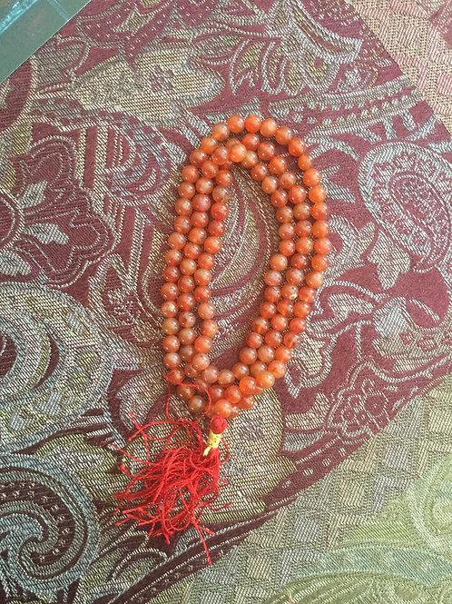 Buddhist mala with natural golden aventurine beads