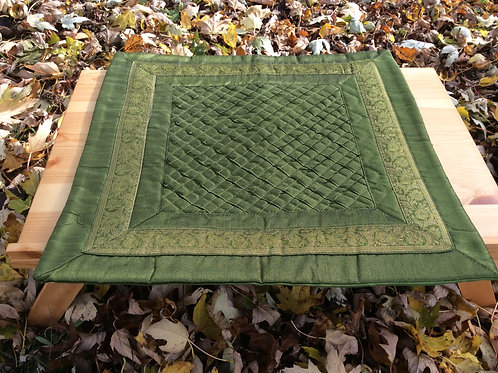 Couvre-coussin vert-feuille (2)