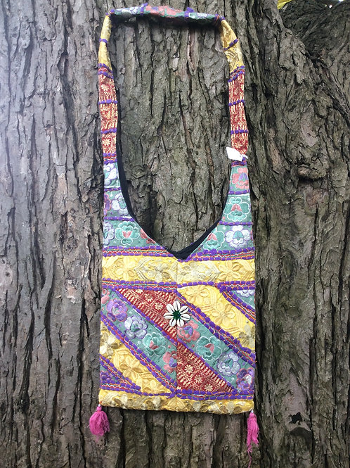 Bag from India #6 multicolored with shoulder strap