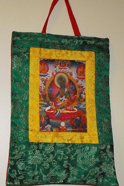 Thanka du Bouddha Tara verte
