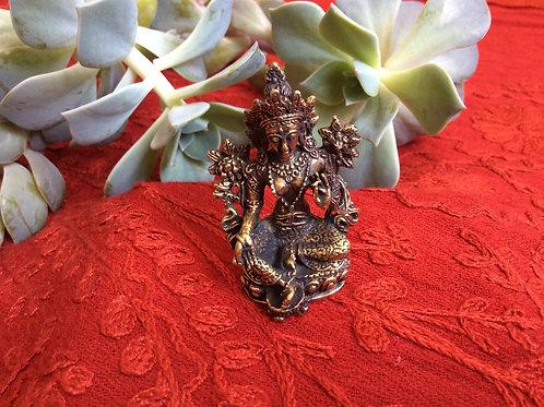 Mini statuette de Tara verte