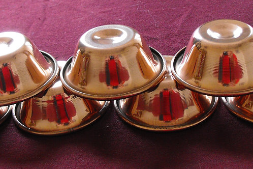Bols (7) d'offrande en cuivre poli 10 cm