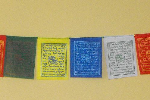 Drapeaux  de prières   H: 18 cm
