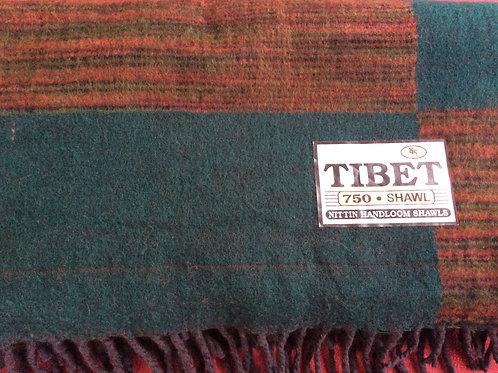 Couverture simili-laine de yak (750) vert forêt