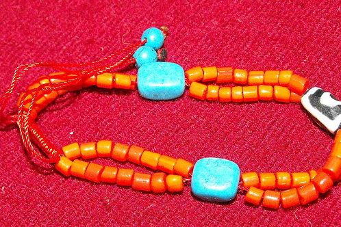 Bracelet de mini-perles de verre rouges