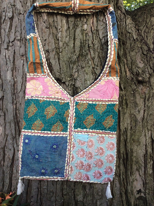 Bag from India #9 multicolored with shoulder strap