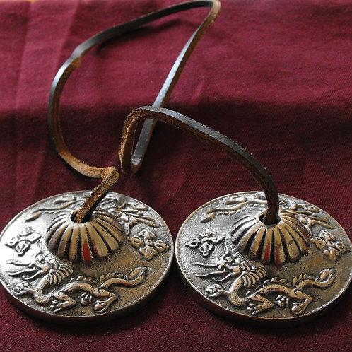 Thingsha en métal Dragons (mini-cymbale)