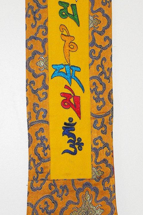 Bannière murale  jaune/or  Mantra Mani