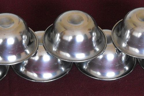 Bols(7) d'offrandes en acier (grand)