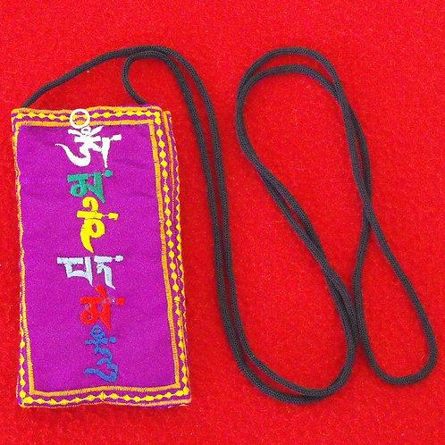 Étui à lunette mauve Mantra Mani