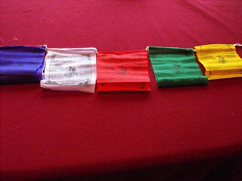 Drapeaux de prière H: 12 cm