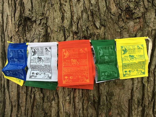 Prayer flags with Wind horse
