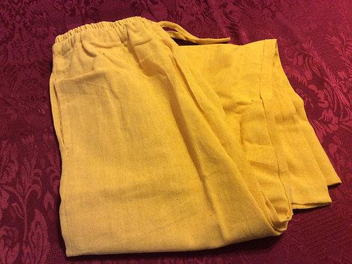 Pantalon de lin jaune
